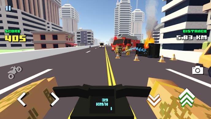Blocky Moto Racing на Андроид