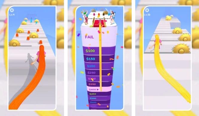 Hair Challenge 3D на Андроид