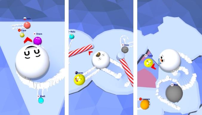 Snow Roll.io на Андроид